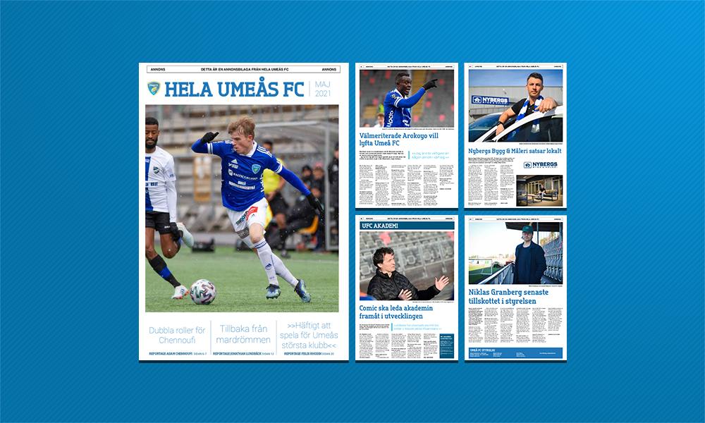 """Nytt nummer av """"Hela Umeås FC"""" – läs den här!"""